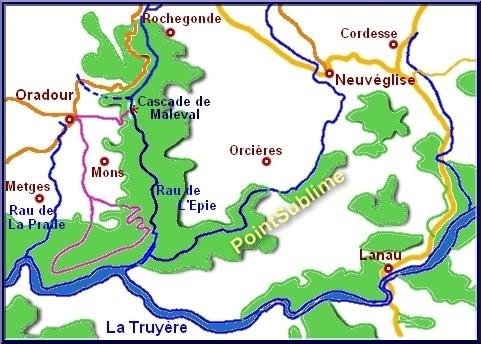 Carte cascade d'Oradour