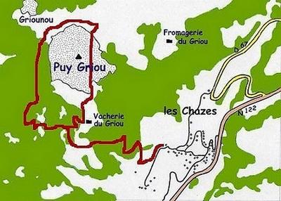 Plan circuit du Griou