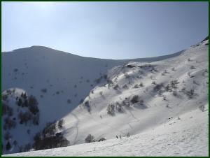 Col de Rombière sous la neige