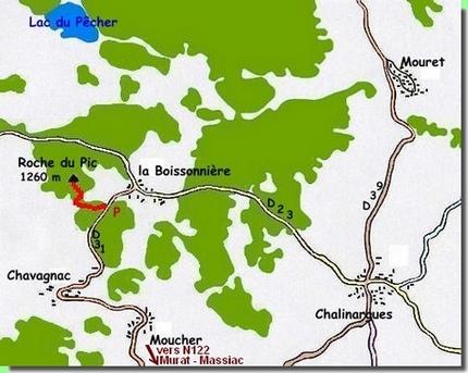 Plan La Roche du Pic