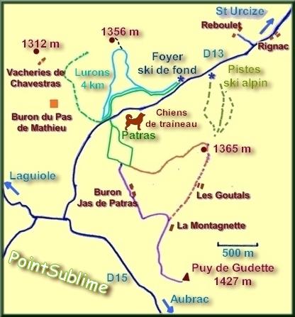 pistes de St Urcize