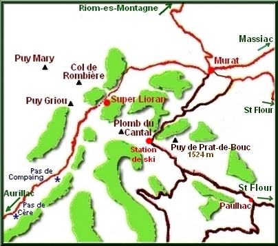 Carte Plomb du Cantal