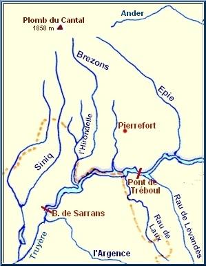 Carte de la Truyère