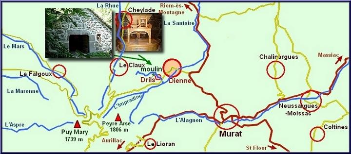 carte moulin à Dienne