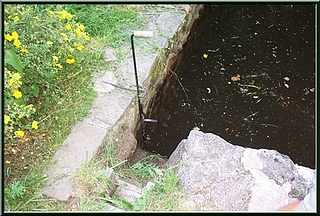 vanne de la retenue d'eau