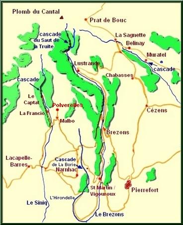 Carte Malbo-Pierrefort