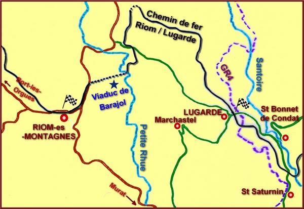 carte Riom-Lugarde