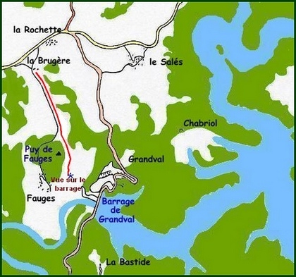 plan barrage de Grandval