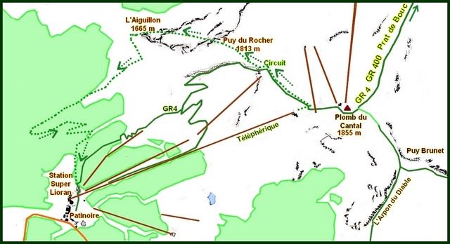 Carte Plomb du Cantal