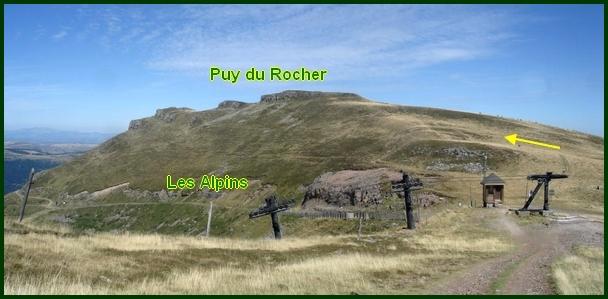 Vers le Puy du Rocher