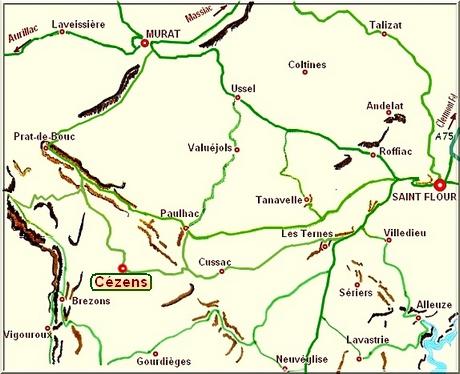 carte de la Planèze