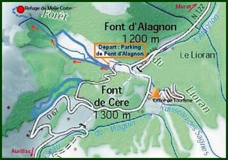 carte Font d'Alagnon