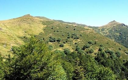 vue du télésiège de Rombières